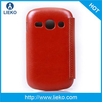 pu leather case for samsung galaxy fame S6810 flip cover