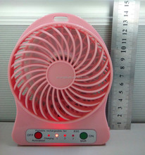 Manufactory 14cm height 5v dc beautiful portable li-ion battery mini fan