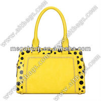 Top Quality Fashion Spotty Leather Satchel Bag