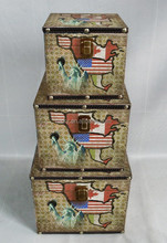 Antique storage trunks & Vintage wooden trunk & Old storage trunks