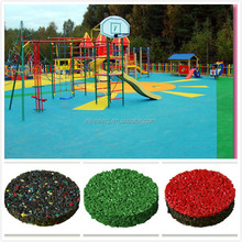 Colored Rubber Playground Mulch, Outdoor Rubber Palyground Flooring / Surface -FN-D150633