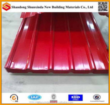 binzhou metal roofing tile, corlor coated galvanized corrugated steel roof