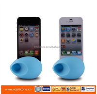 egg design silicone loud speaker for iphone / silicone amplifier