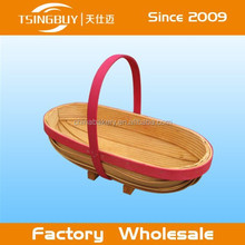 Factory wholesale high quality beautiful present handmade decorative gift basket supplies long island