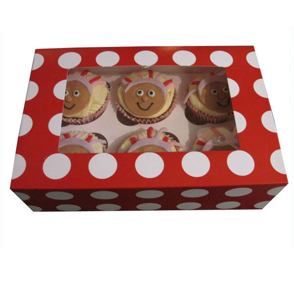 China Factory High Quality PVC Window Paper Cupcake Box
