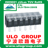 Electronic connector barrier terminal blocks with cover and pin holes 022 from ULO Group