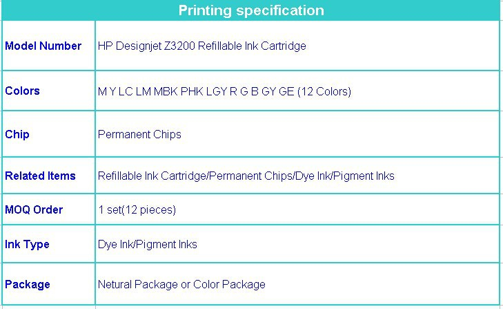 hp z3200 ink cartridge