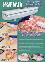 2013 hot selling Wraptastic new as seen on tv items smart dispenser/Aluminum Foil Wax Paper Cutter/Wraptastic Food Wrap Dispense