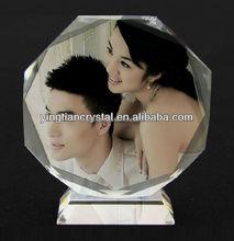 Top quality crystal memento wedding gift, crystal wedding souvenirs, crystal wedding decoration
