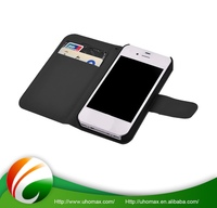Super Quality Custom Logo Detachable Wallet Leather Case For Iphone 5