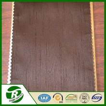 Cortina de tela recubierta 100% poliéster barata en Shantung para cortina de imitación de seda