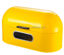 carbon steel yellow powder coating bread storage container for sale decorative with window