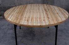 cheap price solid wood table top banquet table
