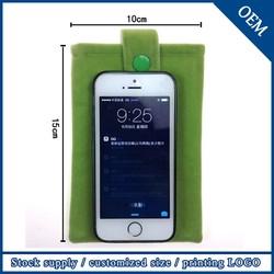Wholesale New Design Customized Logo Packaging Velvet Cell Phone Bag