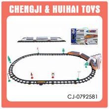 Electric baby plastic toy railway track car