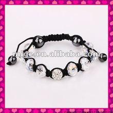 2012 Fashion shamballa crystal ball bracelet (SH020A)
