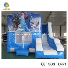 Girls princess frozen jumping castle with slide