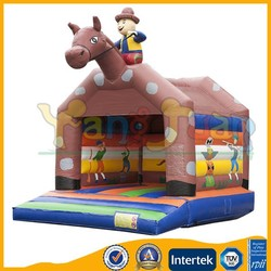 Yangjuan YJ1265 cow boy Castle Inflatable Bounce House/ Bouncy Castle/ Bouncer and Jumper for Kids