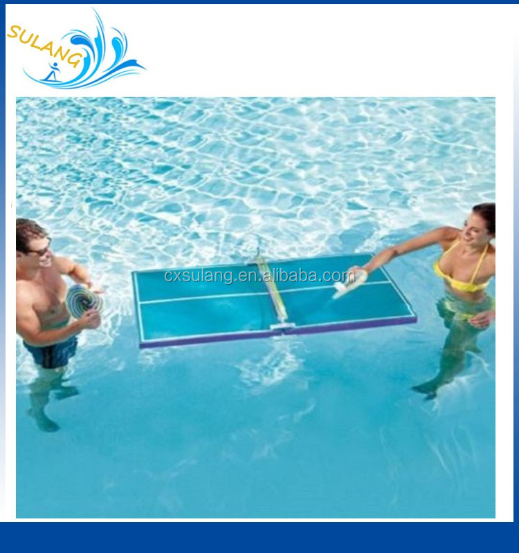 Swimline Flottant Piscine Ping Pong Bi Re Mousse Tennis De Table Jeu Palettes Partie Collation