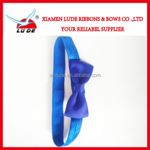 2015 New design Ribbon Hair Bows With Elastic Band,Boutique Elastic Hair Band
