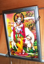 2015 Factory Custom Indian God 3D Picture with Frame