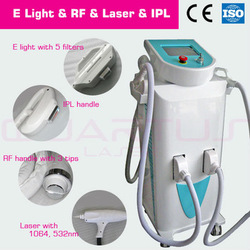 china supplier Elight RF ND YAG Laser IPL hair loss treatment Beauty Equipment