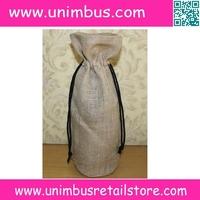 natural jute wine bottle bag