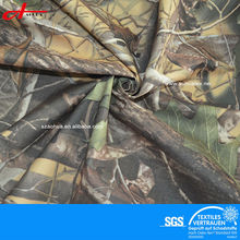 100% polyester woven fabric with military camouflage and Sanded twill peach skin