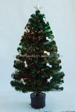Fashion Meteor Artificial Plastic Fiber Optic PVC Christmas Tree Ornament