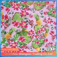 pineapple printed swimwear fabric