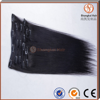 double weft human hair braids clip on hair extensions