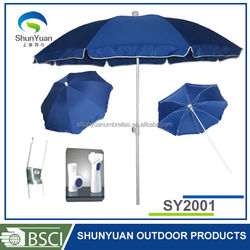 Material -UV Protection Beach Umbrella in Special Design, with Steel Shaft Ribs, OEM Orders are Welcome
