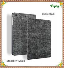Black Cowboy Grain Slim Folio Fold Leather Smart Cover Stand Case For ipad mini