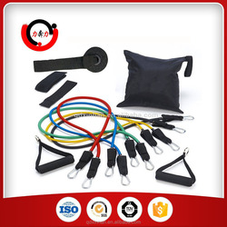 Latex tube portable exercise equipment for outdoor indoor gym