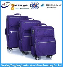 soft fabric material nylon suitcase trolley case luggage with fashion design