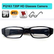 Trendy and stylish design wireless hidden mini camera glasses 720P Support TF card DV camera PQ163