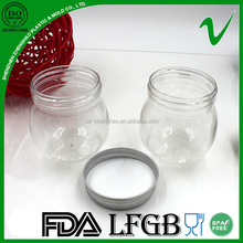 250ml skin care cosmetic plastic jar with aluminum cover