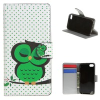 For iPod Touch 6 6G 6TH GEN Flower PU Leather Flip Stand Wallet Skin Case Cover