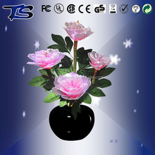 Wholesale High power LED Color changing Artficial fiber optic silk flowers/Holiday flowers with CE and ROHS