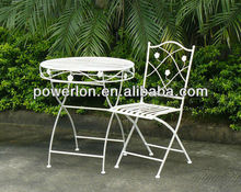 3 Piece Beautiful Outside Garden Table Sets in White and Brown Colour