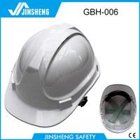 white 6 points european safety work helmet