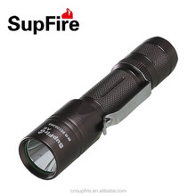 Aluminum waterproof LED flashlight strobe A6 with belt clip
