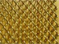 304/306 stainlss steel flexible decorative diamond wire mesh for room divider