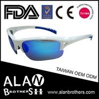 Blue Mens Fashion Sports Wrap Beach Volleyball Sports Sunglasses