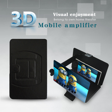 2015 HD Amplifier Enlarge Stand, cellphone screen magnifier holder with leather case