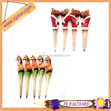 Hot new products for 2014 cheap lovely wood ballpoint pen for kids