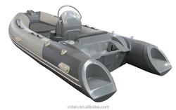 Rigid Hull Fiberglass Inflatable Boat RIB390C, 3.9m, 6 person PVC or Hypalon