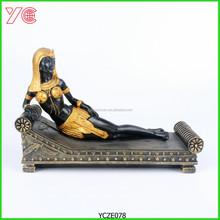 YCZE078 Egyptian Princess Resin Show Pieces For Home Decoration