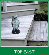 Wholesale PIR Sensor outdoor electronic bird scarer of owl For Pest Control