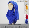 Hot fashion jilbab abaya hijab muslim women scarf with flower trim